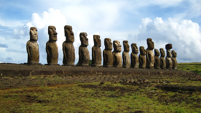 Easter İsland İzlanda Dünyaca Ünlü Şehirler Kanvas Tablo