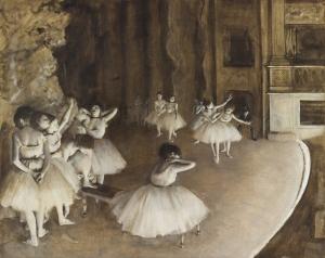 Edgar Degas Ballet Rehearsal Yağlı Boya Sanat Kanvas Tablo