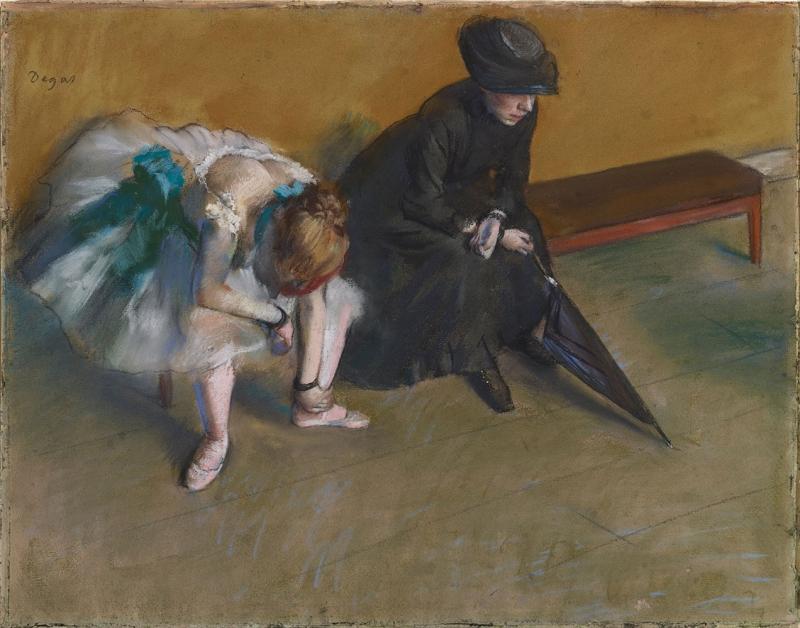 Edgar Degas Bekleme Balerin 1 Yağlı Boya Reprodüksiyon Klasik Sanat Kanvas Tablo