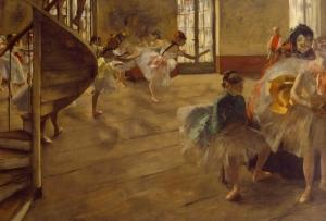 Edgar Degas Bekleme Balerin 2 Yağlı Boya Reprodüksiyon Klasik Sanat Kanvas Tablo