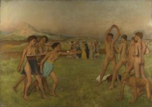 Edgar Degas Genc Spartalılar Yağlı Boya Reprodüksiyon Klasik Sanat Kanvas Tablo