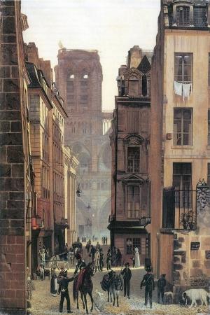 Eduard Gertner Yeni Notre Dame Paris Klasik Sanat Kanvas Tablo