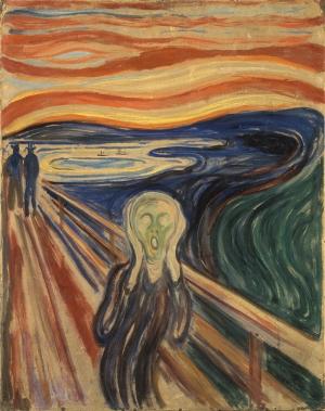 Edvard Munch Çığlık Yağlı Boya Sanat Kanvas Tablo