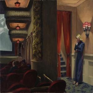 Edward Hopper Newyork Filmi Yağlı Boya Klasik Sanat Canvas Tablo