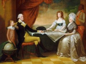 Edward Savage Washington Ailesi Yağlı Boya Sanat Kanvas Tablo