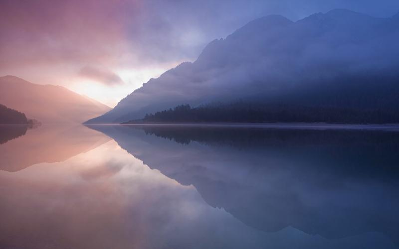Egzotik Göl Bulutlar Doğa Manzaraları Kanvas Tablo