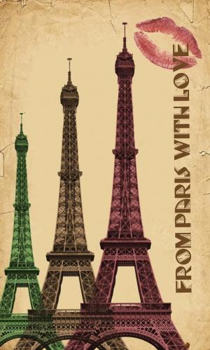 Eiffel Kulesi Retro & Motto Kanvas Tablo