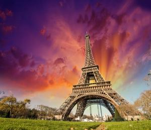 Eiffel Tower Gece Şehir Manzarası Dünyaca Ünlü Şehirler Kanvas Tablo