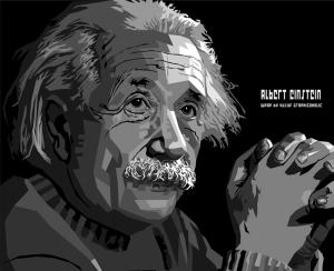 Einstein İllustrasyon Popüler Kültür Kanvas Tablo
