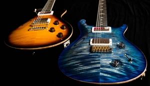 Elektro Gitar 2 Yağlı Boya Sanat Kanvas Tablo