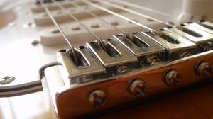 Elektro Gitar Makro Yağlı Boya Sanat Kanvas Tablo