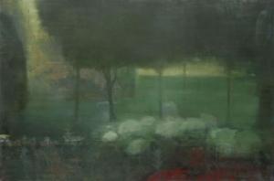 Ellen Phelan Uzak Tarladaki Işik Soyut Yağlı Boya Klasik Sanat Canvas Tablo