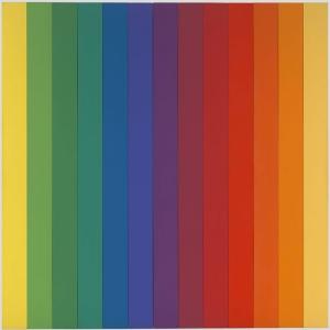 Ellsworth Kelly 4. Spectrum Soyut Yağlı Boya Klasik Sanat Kanvas Tablo