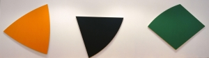 Ellsworth Kelly Turuncu Koyu Gri Yeşil Paneller Soyut Yağlı Boya Klasik Sanat Canvas Tablo