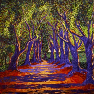 Emmaus Boyama Yolu, Road to Emmaus, Robert Zünd Klasik Sanat Kanvas Tablo