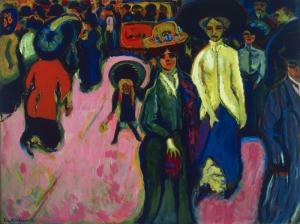 Ernst Ludwig Kirchner Caddesi Dresden Soyut Yağlı Boya Klasik Sanat Canvas Tablo
