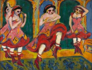 Ernst Ludwig Kirchner Yağlı Boya Sanat Kanvas Tablo
