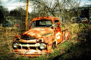Eski Amerikan Yapimi Kamyonlar Renkli Kamyonlar Araclar Kanvas Tablo