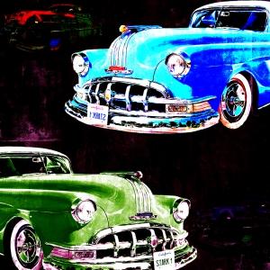 Eski Arabalar, Klasik Araçlar-10 Sanat Kanvas Tablo
