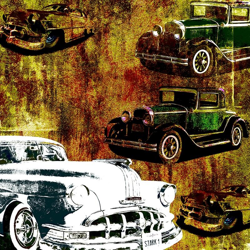 Eski Arabalar, Klasik Araçlar-16 Sanat Kanvas Tablo Arttablo