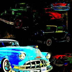 Eski Arabalar, Klasik Araçlar-3 Sanat Kanvas Tablo Arttablo
