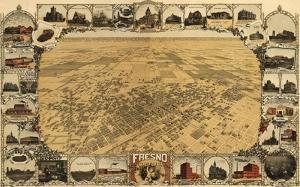 Eski Çizim Amerika Haritası Kanvas Tablo