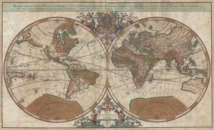 Eski Çizim Denizcilik Dünya Haritası-3 Kanvas Tablo