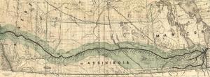Eski Çizim Denizcilik Dünya Haritası-5 Kanvas Tablo