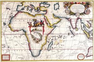 Eski Cizim Dunya Haritasi 4 Cografya Canvas Tablo