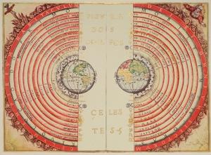 Eski Çizim Dünya Haritası Kanvas Tablo