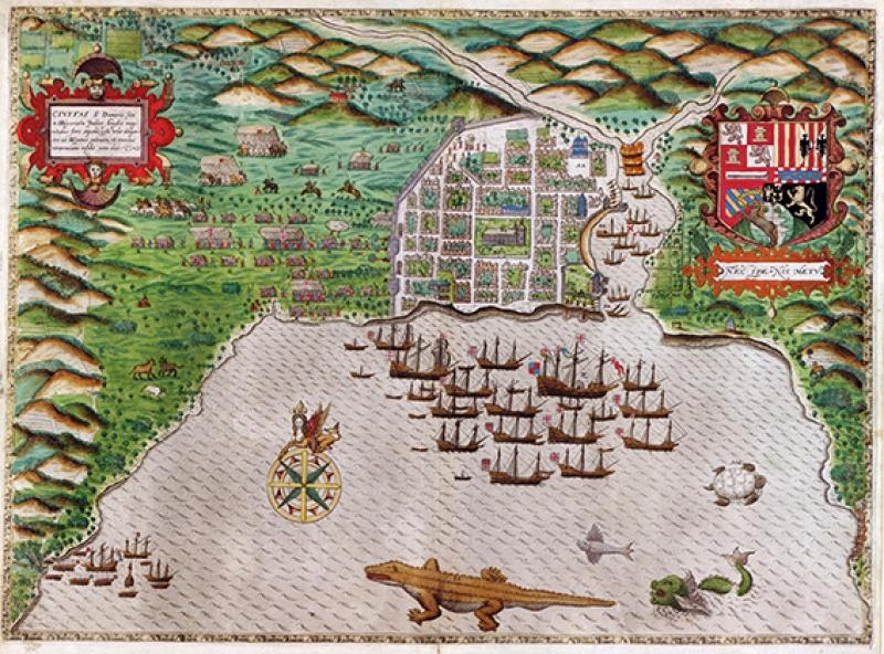 Eski Çizim Harita İllustrasyon Kanvas Tablo