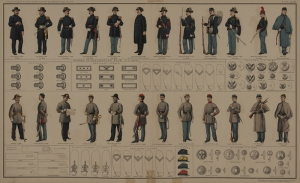 Eski Çizim Üniforma Asker Yağlı Boya Sanat Kanvas Tablo
