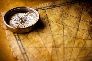 Eski Dünya Haritası Deri Kanvas Tablo