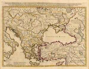 Eski Dünya Haritası Türkiye Kanvas Tablo