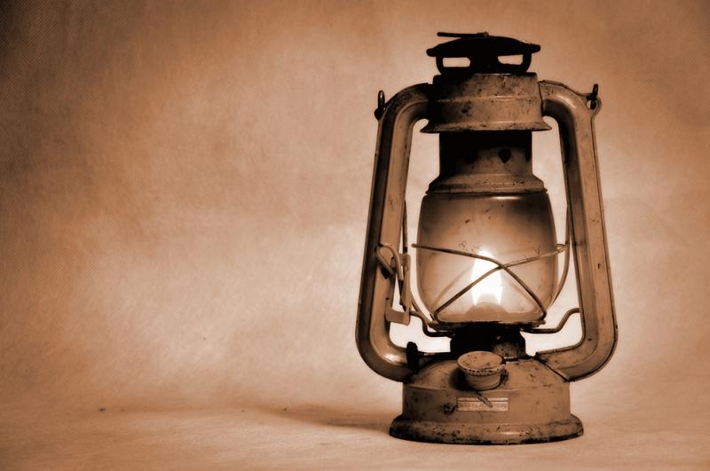 Eski Gaz Lambası Popüler Kültür Kanvas Tablo