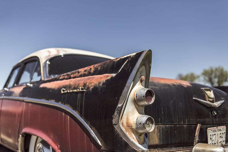 Eski Hurda Klasik Otomobil Coronet Kanvas Tablo