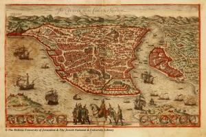 Eski Istanbul Haritasi ve Osmanlı Padisahlari Siyasi ve Cografi Atlaslar Kanvas Tablo
