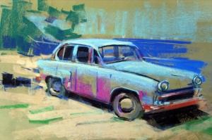 Eski Klasik Arabalar-15 Araçlar Jaguar Vintage Araçlar Kanvas Tablo