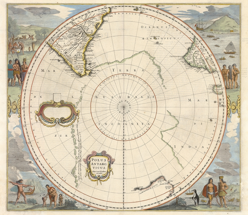 Eski Kutup Haritası Kanvas Tablo