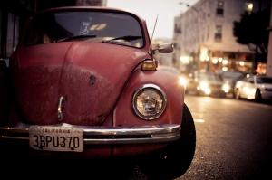 Eski Model Klasik Arabalar Volkswagen Kaplumba Klasik Otomobiller Araclar Kanvas Tablo
