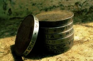 Eski Roma Bozuk Paraları Dünya Tarihi, Fotoğraf Kanvas Tablo