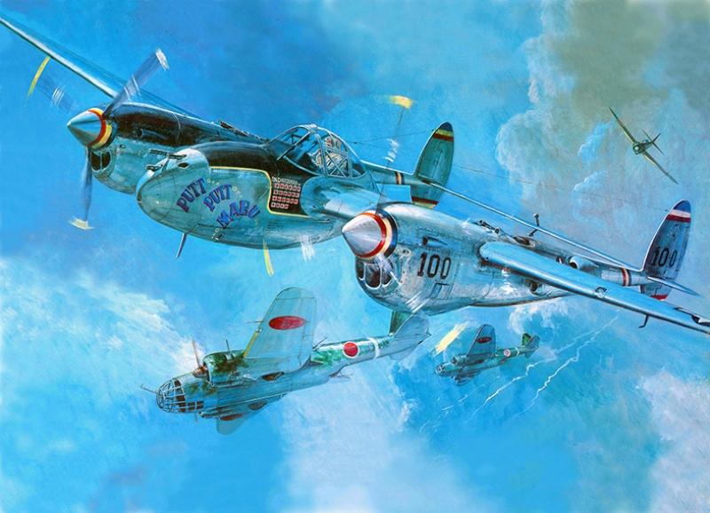Eski Savaş Uçak Gökyüzü Bombardıman Çizim İllustrasyon Kanvas Tablo