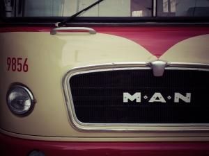 Eski Tip Otobüs Araçlar Kanvas Tablo