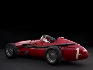 Eski Yarış Otomobil Kırmızı Kanvas Tablo