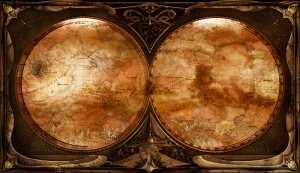 Eskitme Eski Cizim Dunya Haritasi HD Dunya Haritalari Cografya Canvas Tablo
