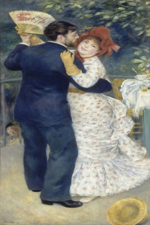 Eşli Dans, Pierre August Renoir, Danse La Campagne Klasik Sanat Kanvas Tablo