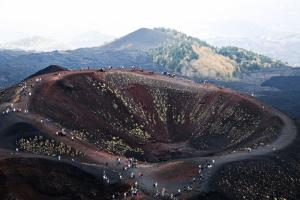 Etne Yanardağ Krater Ağzı Güney Yamacı Sicilya İtalya Doğa Manzaraları Kanvas Tablo