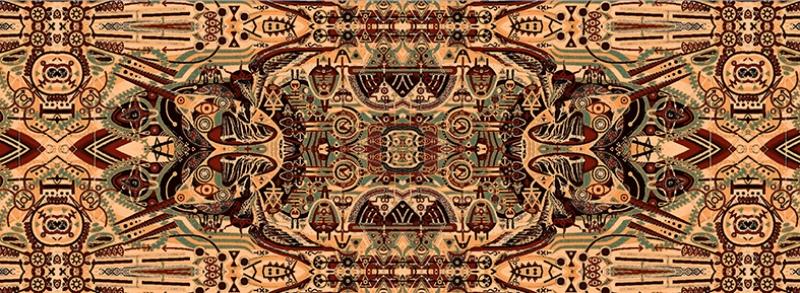 Etnik Abstract Soyut Yağlı Boya Sanat Kanvas Tablo
