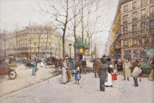 Eugene Galien Laloue 2 Madeleine Meydanı Yağlı Boya Klasik Sanat Kanvas Tablo