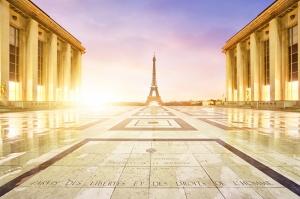 Eyfel Kulesi Paris 2 Dünyaca Ünlü Şehirler Kanvas Tablo